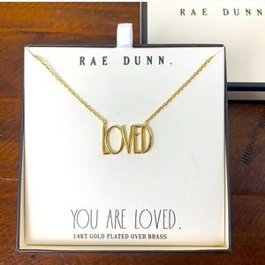 Rae Dunn 14KT gold plated LOVED necklace